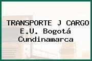 TRANSPORTE J CARGO E.U. Bogotá Cundinamarca