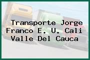 Transporte Jorge Franco E. U. Cali Valle Del Cauca
