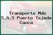 Transporte Mds S.A.S Puerto Tejada Cauca