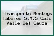 Transporte Montoya Tabares S.A.S Cali Valle Del Cauca