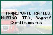 TRANSPORTE RÁPIDO NARIÑO LTDA. Bogotá Cundinamarca