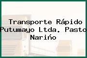 Transporte Rápido Putumayo Ltda. Pasto Nariño