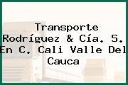 Transporte Rodríguez & Cía. S. En C. Cali Valle Del Cauca
