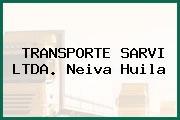 TRANSPORTE SARVI LTDA. Neiva Huila
