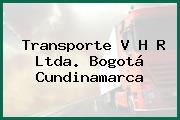 Transporte V H R Ltda. Bogotá Cundinamarca