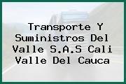 Transporte Y Suministros Del Valle S.A.S Cali Valle Del Cauca