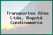 Transportes Alex Ltda. Bogotá Cundinamarca