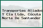 Transportes Aliados Y Cía Ltda. Cúcuta Norte De Santander