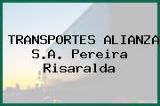 TRANSPORTES ALIANZA S.A. Pereira Risaralda