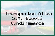 Transportes Altea S.A. Bogotá Cundinamarca
