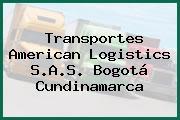 Transportes American Logistics S.A.S. Bogotá Cundinamarca