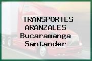 TRANSPORTES ARANZALES Bucaramanga Santander