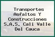 Transportes Asfaltos Y Construcciones S.A.S. Cali Valle Del Cauca
