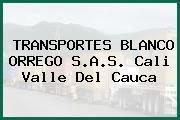 TRANSPORTES BLANCO ORREGO S.A.S. Cali Valle Del Cauca