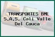 TRANSPORTES BML S.A.S. Cali Valle Del Cauca