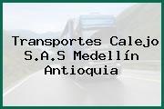 Transportes Calejo S.A.S Medellín Antioquia