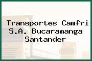 Transportes Camfri S.A. Bucaramanga Santander