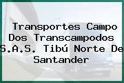 Transportes Campo Dos Transcampodos S.A.S. Tibú Norte De Santander
