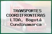 TRANSPORTES COORDIFRONTERAS LTDA. Bogotá Cundinamarca
