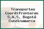 Transportes Coordifronteras S.A.S. Bogotá Cundinamarca