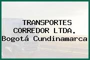 TRANSPORTES CORREDOR LTDA. Bogotá Cundinamarca