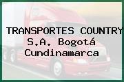 TRANSPORTES COUNTRY S.A. Bogotá Cundinamarca
