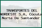 TRANSPORTES DEL NORDESTE S.A. Cúcuta Norte De Santander