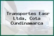 Transportes Easr Ltda. Cota Cundinamarca