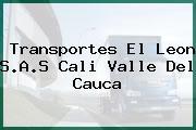Transportes El Leon S.A.S Cali Valle Del Cauca