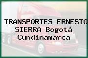 TRANSPORTES ERNESTO SIERRA Bogotá Cundinamarca