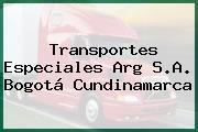 Transportes Especiales Arg S.A. Bogotá Cundinamarca