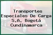 Transportes Especiales De Carga S.A. Bogotá Cundinamarca