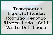 Transportes Especializados Rodrigo Tenorio Rivera Ltda. Cali Valle Del Cauca