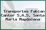 Transportes Fabian Cantor S.A.S. Santa Marta Magdalena