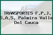 TRANSPORTES F.P.J. S.A.S. Palmira Valle Del Cauca