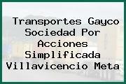 Transportes Gayco Sociedad Por Acciones Simplificada Villavicencio Meta