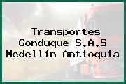 Transportes Gonduque S.A.S Medellín Antioquia