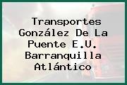 Transportes González De La Puente E.U. Barranquilla Atlántico