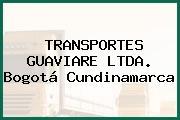 Transportes Guaviare Ltda. Bogotá Cundinamarca