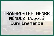 TRANSPORTES HENRRI MÉNDEZ Bogotá Cundinamarca