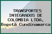 TRANSPORTES INTEGRADOS DE COLOMBIA LTDA. Bogotá Cundinamarca
