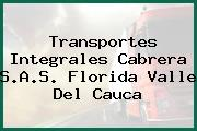 Transportes Integrales Cabrera S.A.S. Florida Valle Del Cauca