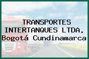 TRANSPORTES INTERTANQUES LTDA. Bogotá Cundinamarca