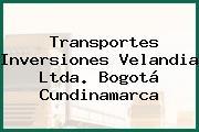 Transportes Inversiones Velandia Ltda. Bogotá Cundinamarca