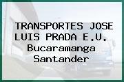 TRANSPORTES JOSE LUIS PRADA E.U. Bucaramanga Santander