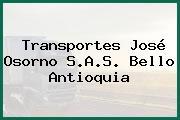 Transportes José Osorno S.A.S. Bello Antioquia