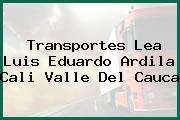 Transportes Lea Luis Eduardo Ardila Cali Valle Del Cauca