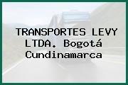 TRANSPORTES LEVY LTDA. Bogotá Cundinamarca