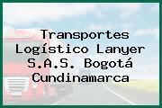 Transportes Logístico Lanyer S.A.S. Bogotá Cundinamarca