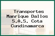 Transportes Manrique Dallos S.A.S. Cota Cundinamarca